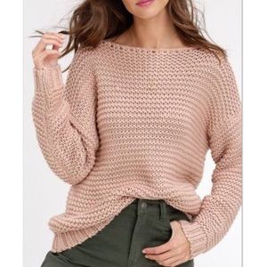 Listicle Soft Touch Blush Chunky Knit Sweater M